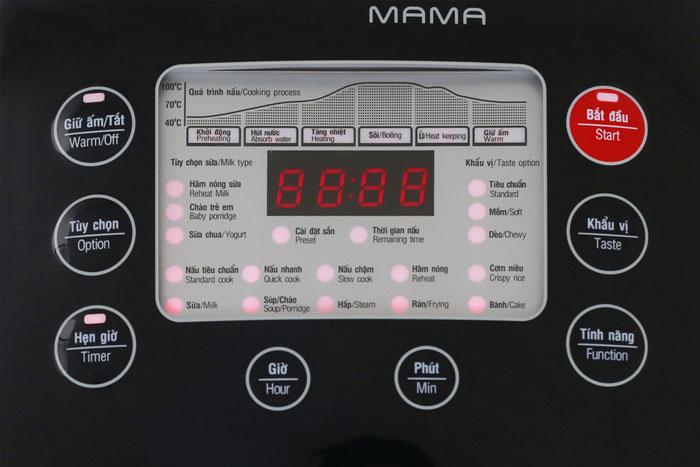 bảng điều khiển Nồi cơm điện tử Sunhouse Mama SHD8903