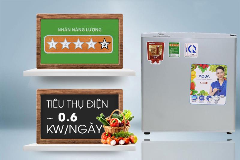 Tủ lạnh mini Aqua AQR-55AR 50L tiết kiệm điện