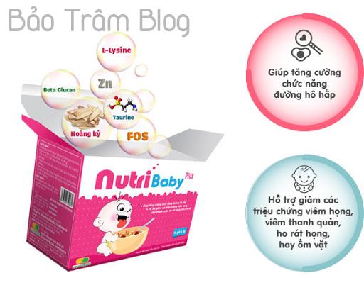công dụng cốm vi sinh Nutribaby Plus