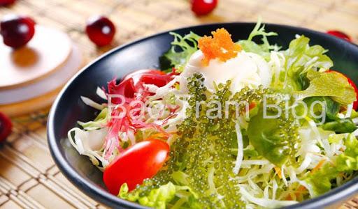 món ăn từ rong nho salad rong nho chay