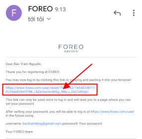 cách đăng ký tài khoản Foreo