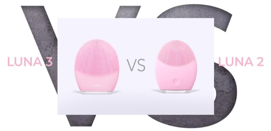 so sánh máy rửa mặt foreo luna 2 và luna 3