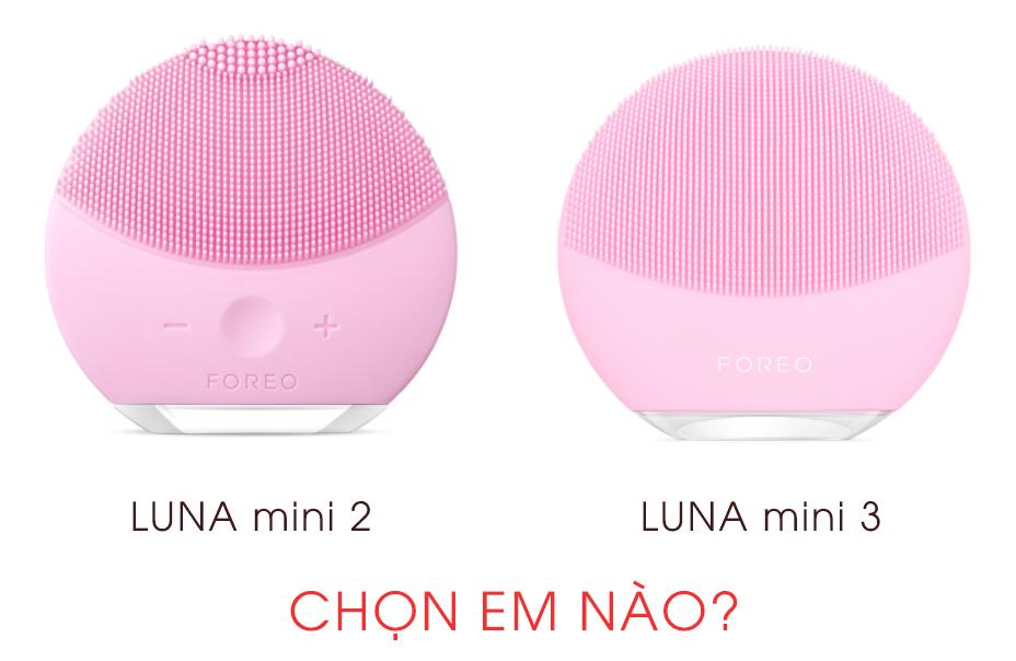 So sánh máy rửa mặt Foreo LUNA mini 2 và LUNA mini 3