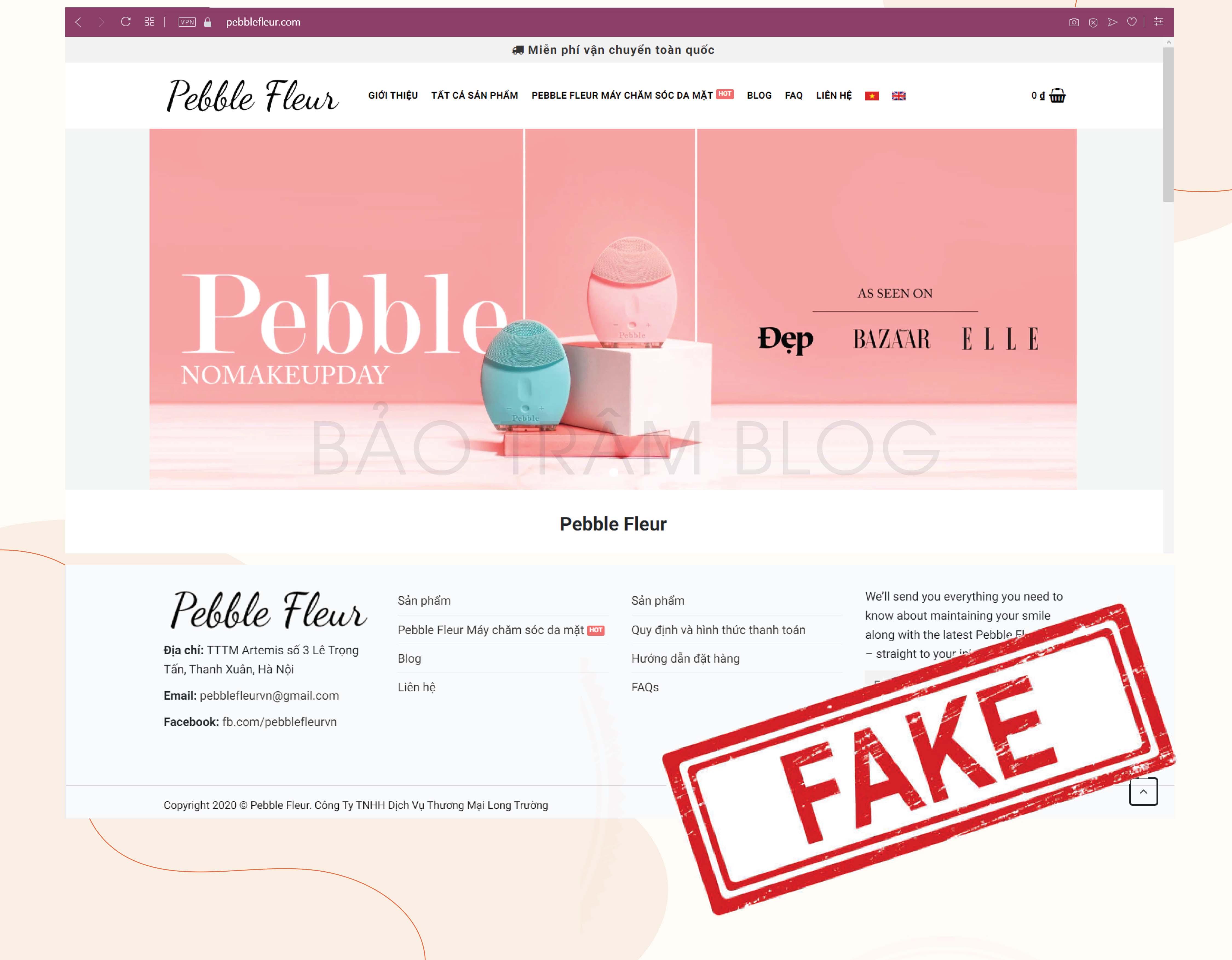 nơi bán máy rửa mặt pebble lisa fake