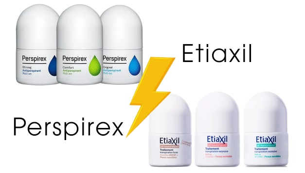 So sánh lăn khử mùi Etiaxil và Perspirex