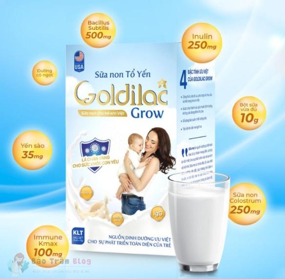 Sữa non tổ yến Goldilac Grow có tốt không?