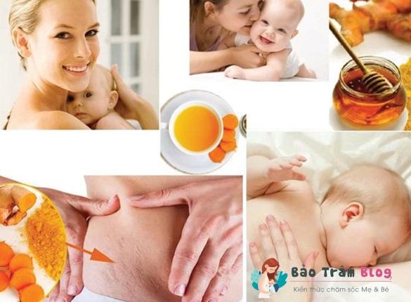 phụ nữ sau sinh nên uống tinh bột nghệ hay nghệ tươi?