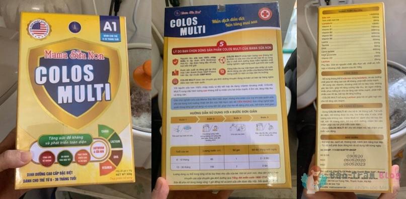 Mama sữa non Colos Multi A1 có tốt không?