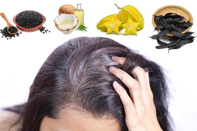 Chữa tóc bạc sớm từ thiên nhiên